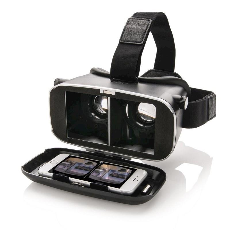 VR-bril 3D, zwart