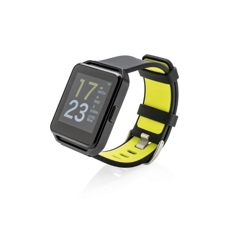 Activity horloge met kleurenscherm, zwart