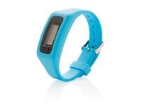 Stappenteller armband, blauw