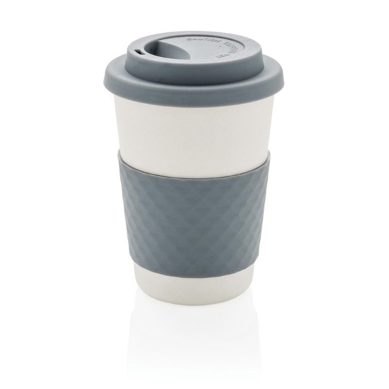 ECO Bamboe koffie beker, grijs
