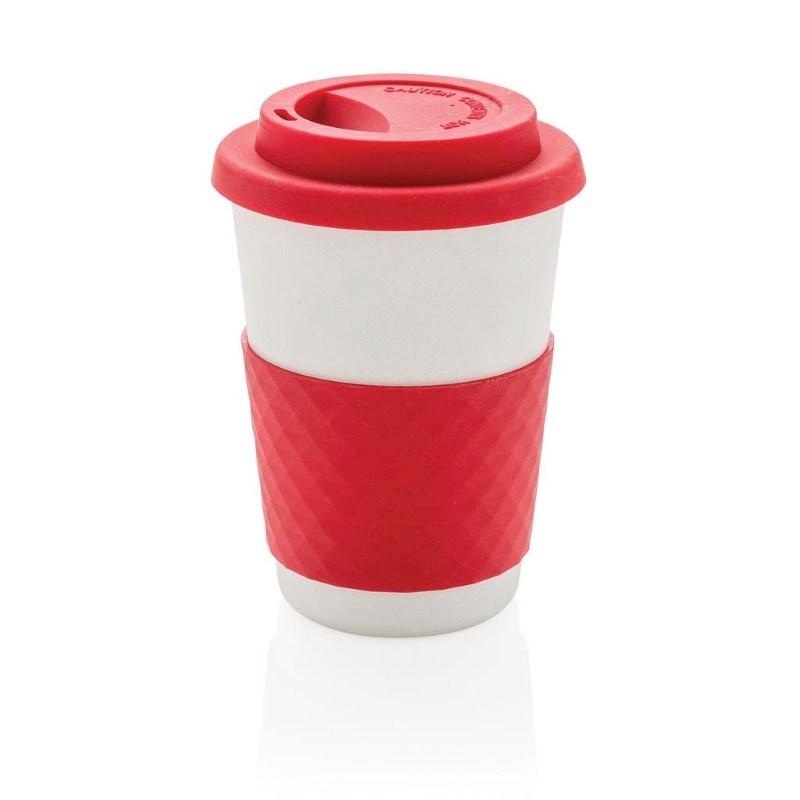ECO Bamboe koffie beker, rood