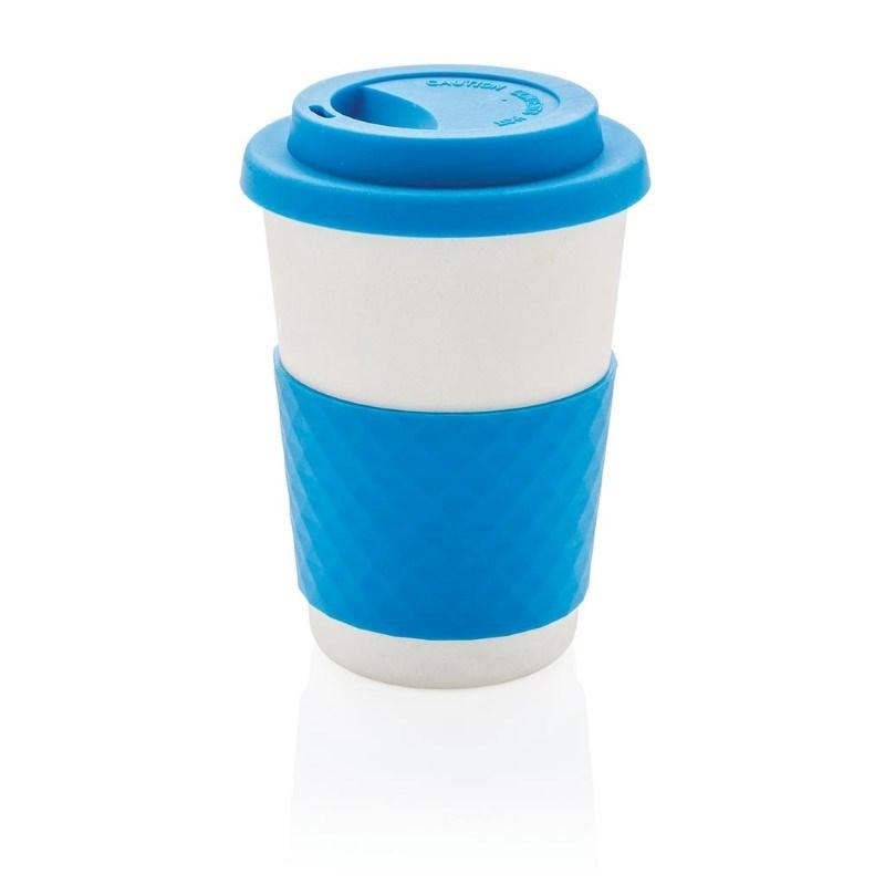 ECO Bamboe koffie beker, blauw