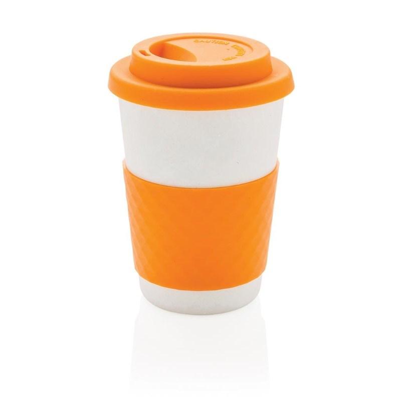 ECO Bamboe koffie beker, oranje