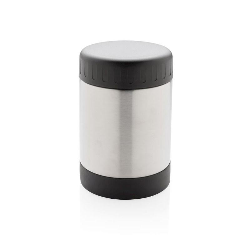 Voedselcontainer met vacuüm isolatie, zilver