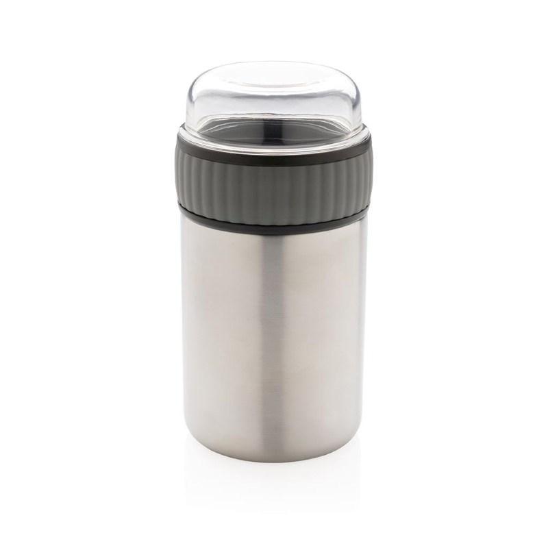 2-in-1 vacuüm voedselcontainer, grijs