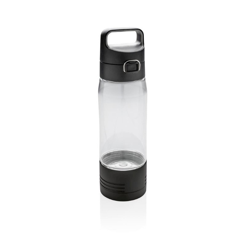Hydrate lekvrije fles met draadloze oplader, transparant