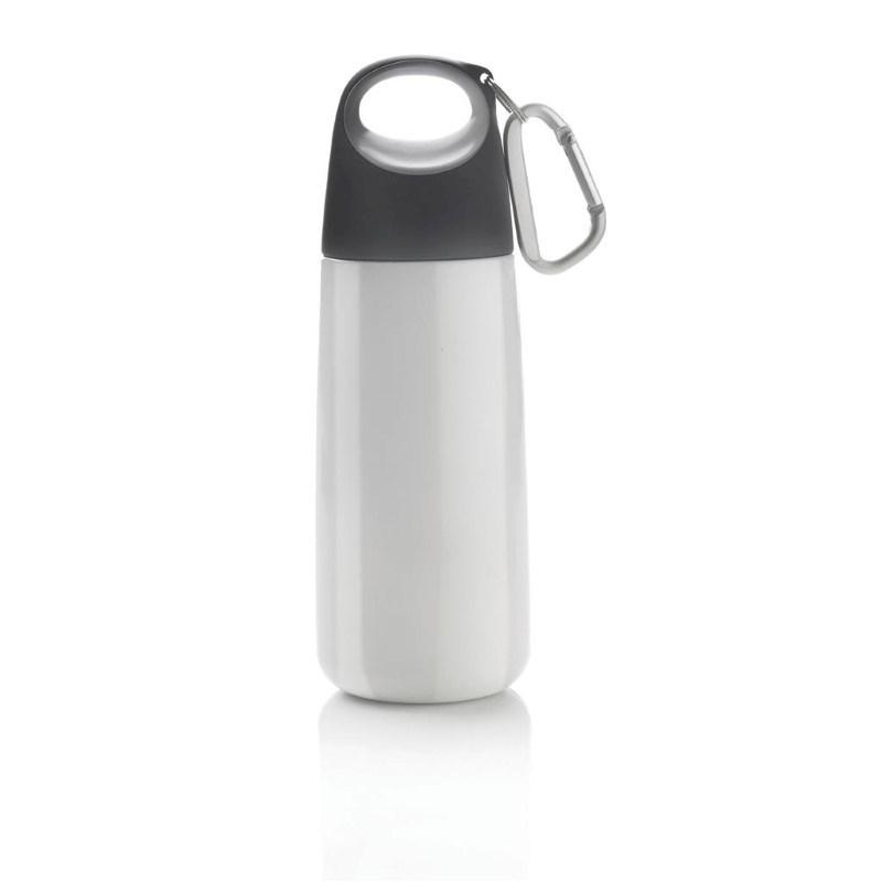 Bopp Mini fles met karabijnhaak, wit
