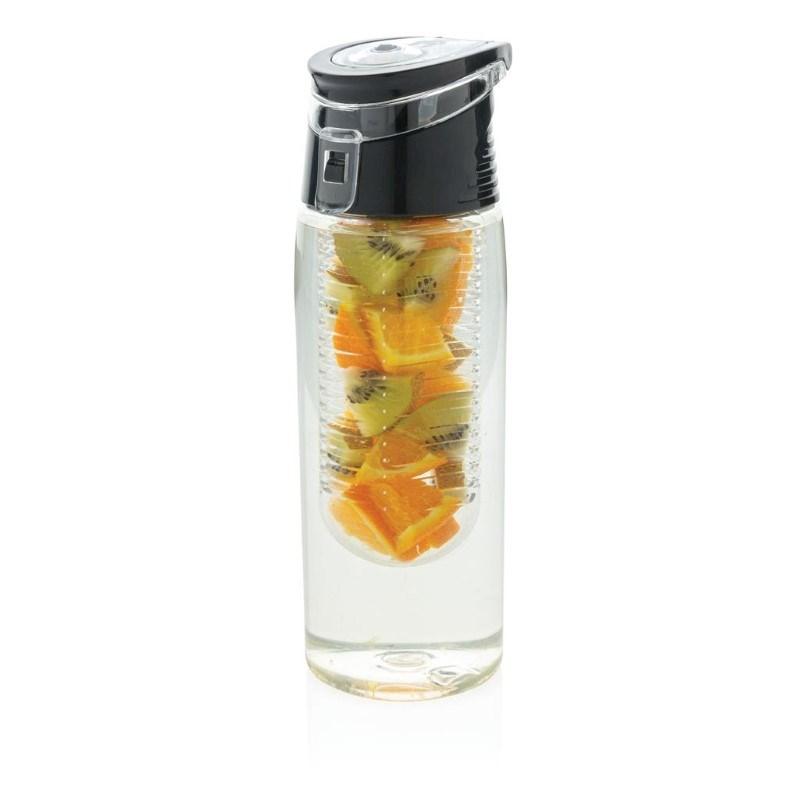 Afsluitbare waterfles met infuser, transparant