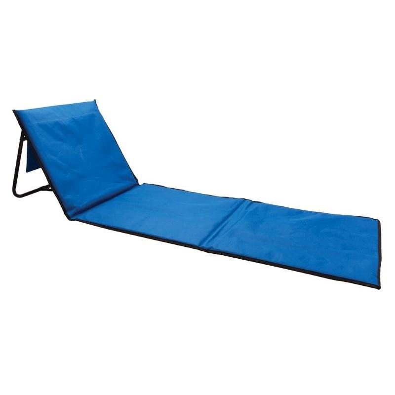 Opvouwbare strand loungestoel, blauw