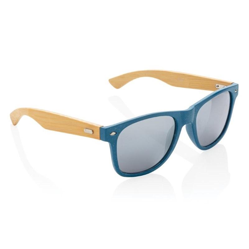 Tarwevezel en bamboe zonnebril, blauw