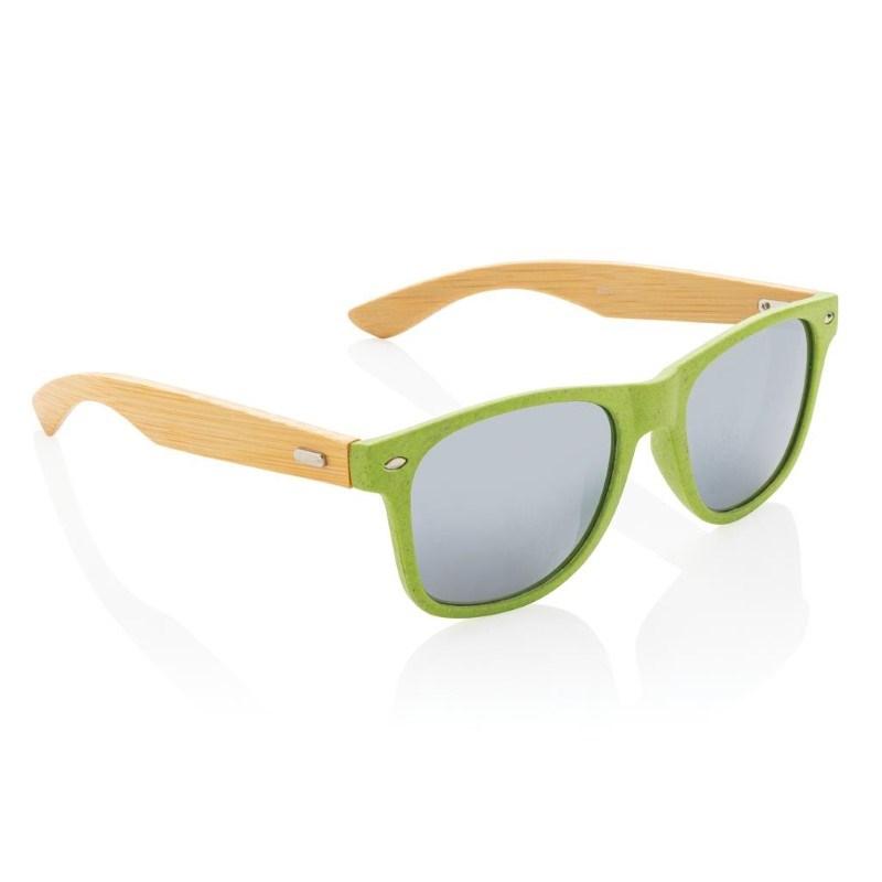 Tarwevezel en bamboe zonnebril, groen