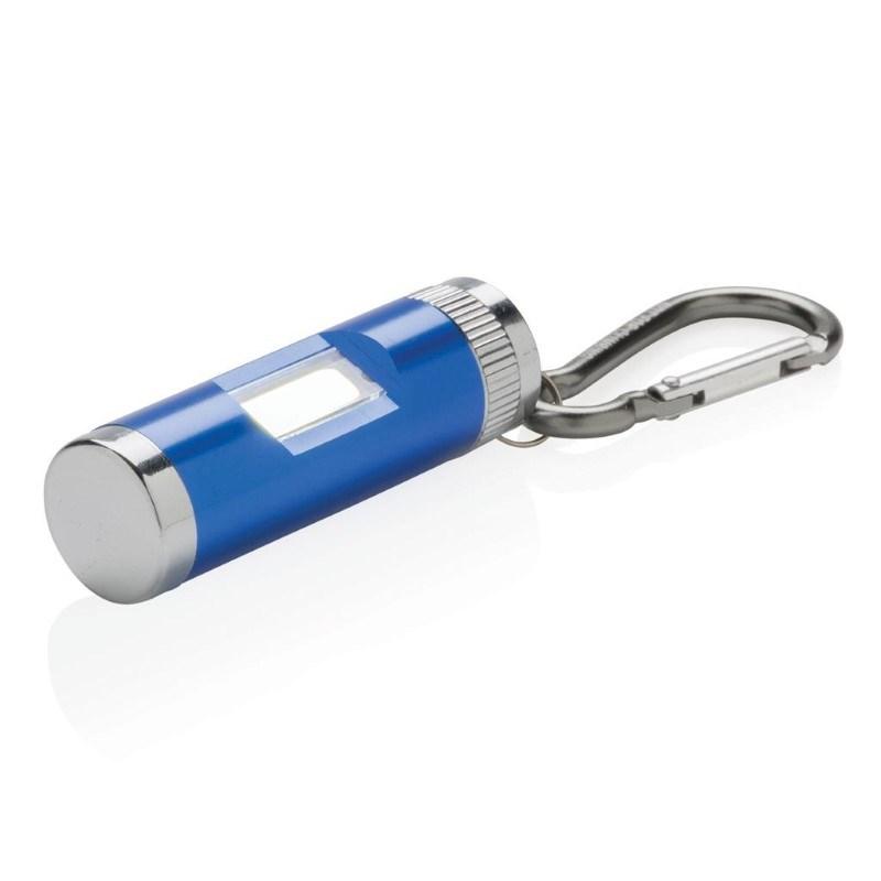 COB lamp met karabijnhaak, blauw