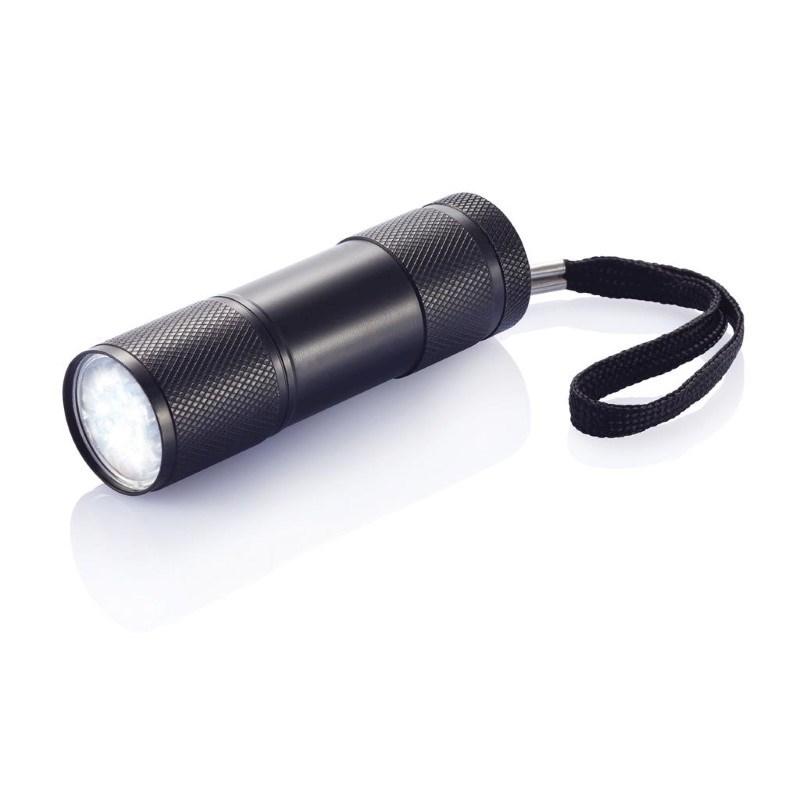 Quattro zaklamp, zwart