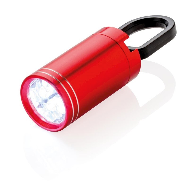 Pull it LED zaklamp, rood