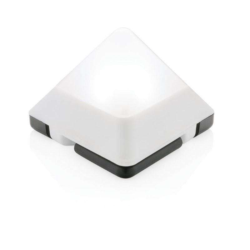 Driehoekige mini lantaarn, wit