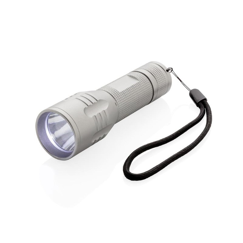 3W CREE zaklamp medium, grijs