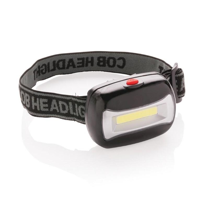 COB hoofdlamp, zwart