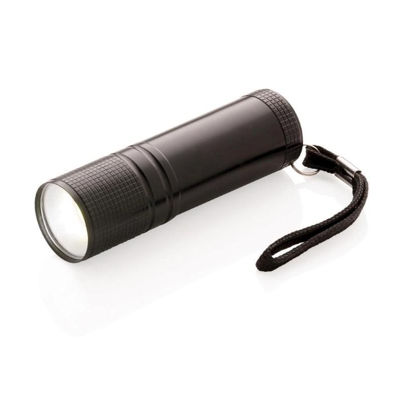 COB zaklamp, zwart