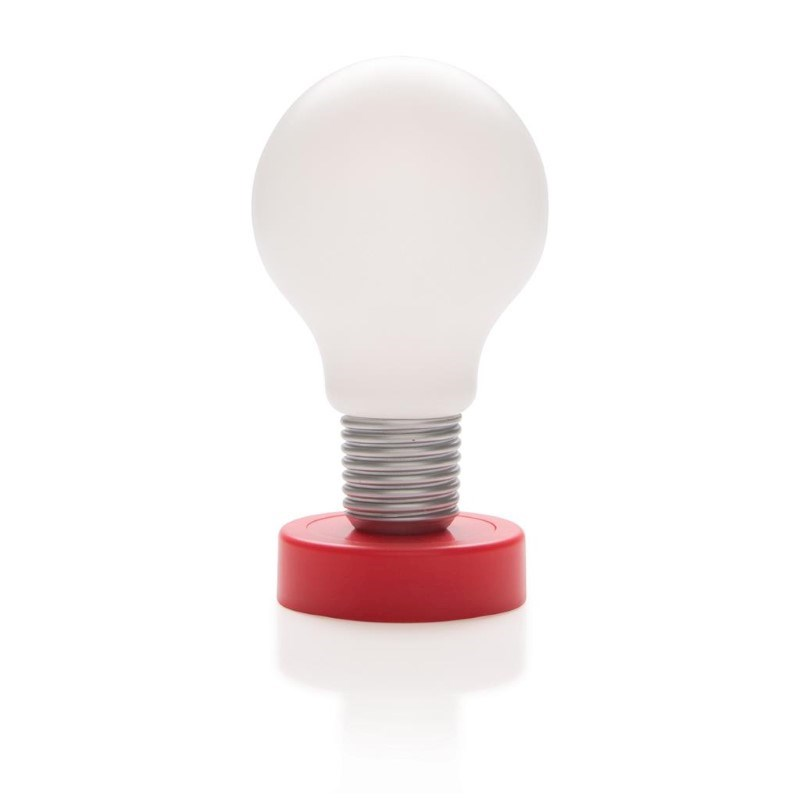 Push lamp, rood