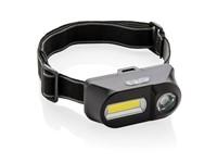 COB en LED hoofdlamp, zwart