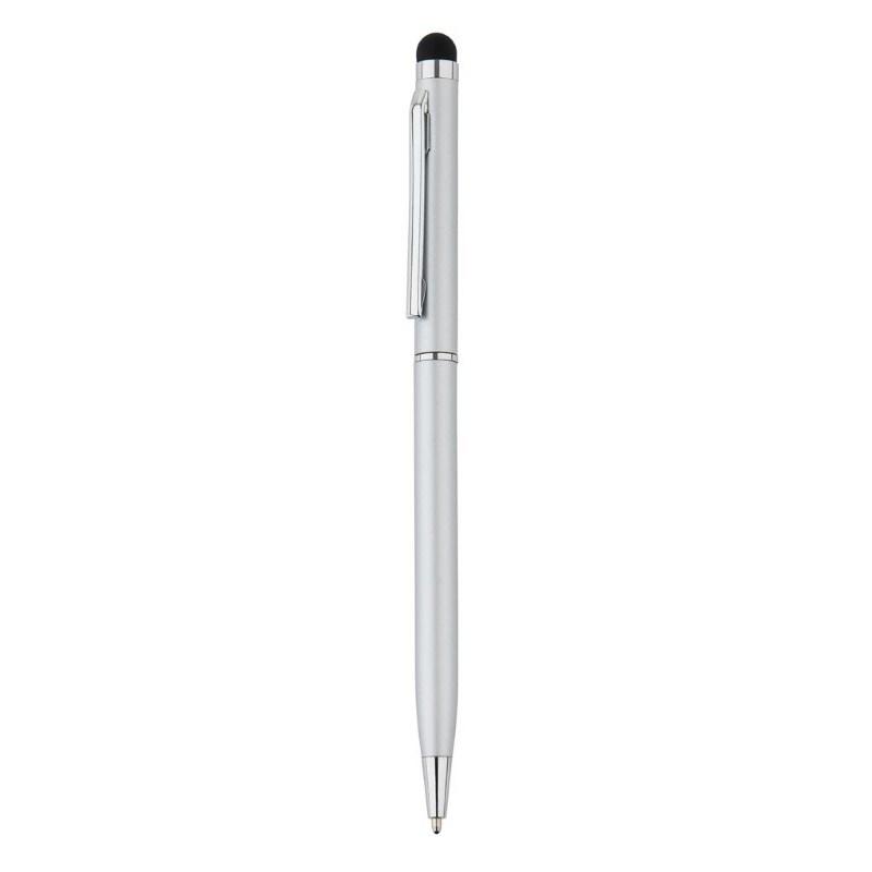 Aluminium touchscreen pen, grijs