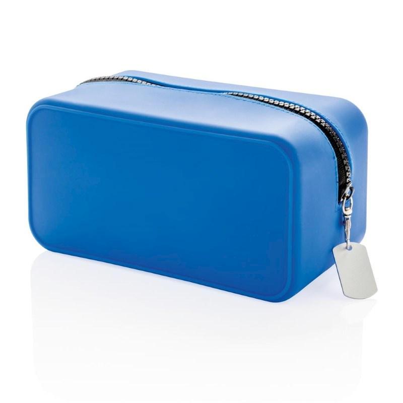 Lekvrije siliconen toilettas, blauw