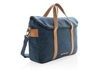 Canvas laptop tas PVC vrij, blauw