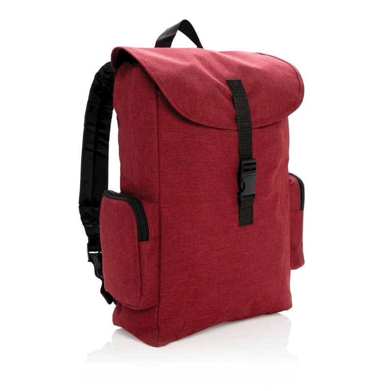 """15"""" Laptop rugtas met buckel sluiting, rood"""