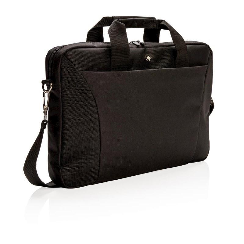 "Swiss Peak 15.4"" laptop tas, zwart"