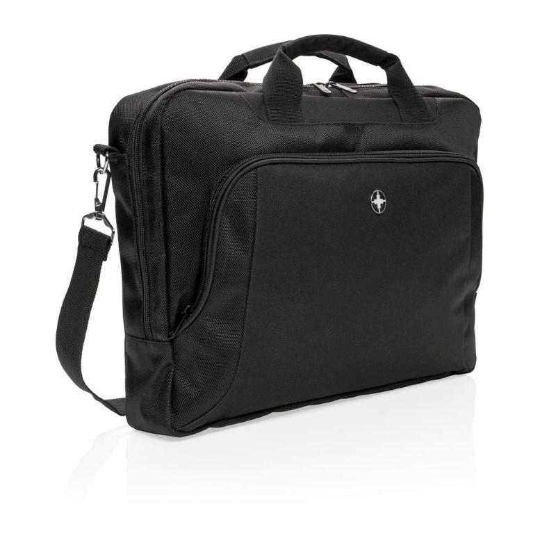 """Swiss Peak Deluxe 15"""" laptop tas, zwart"""