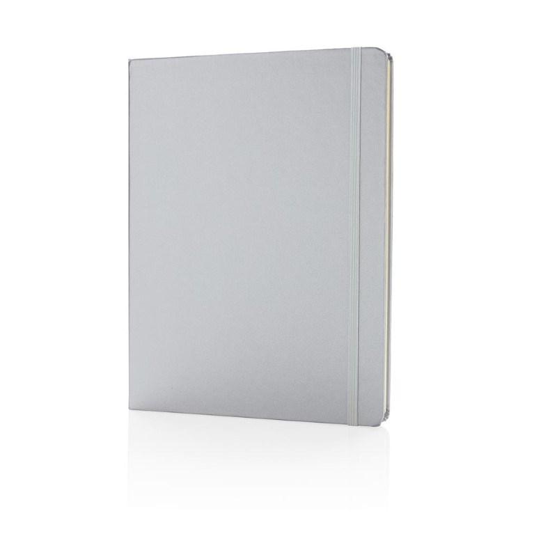 B5 basic hardcover notitieboek XL, zilver