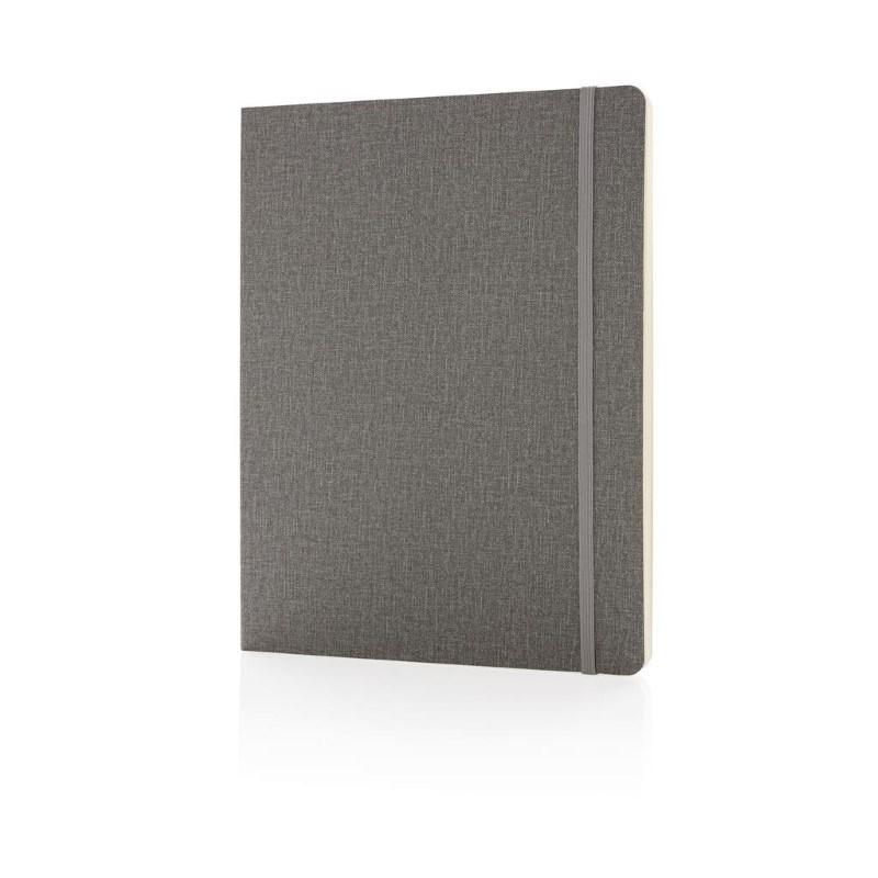 Deluxe B5 notitieboek soft cover XL, grijs