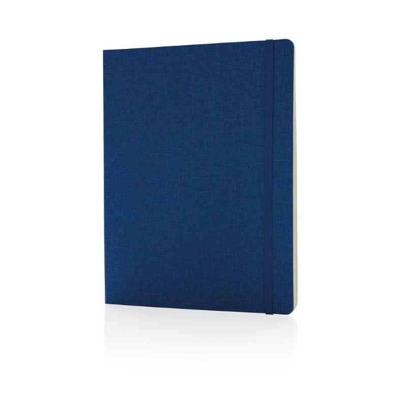 Deluxe B5 notitieboek soft cover XL, blauw