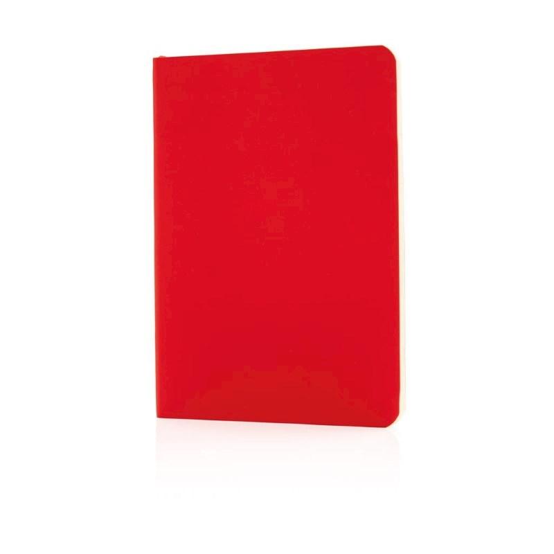Flexibel notitieboekje met softcover, rood