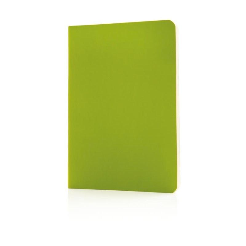 Flexibel notitieboekje met softcover, groen
