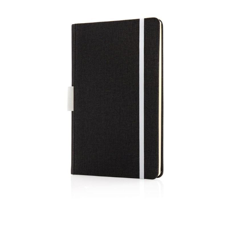 Luxe A5 notebook met penhouder, wit