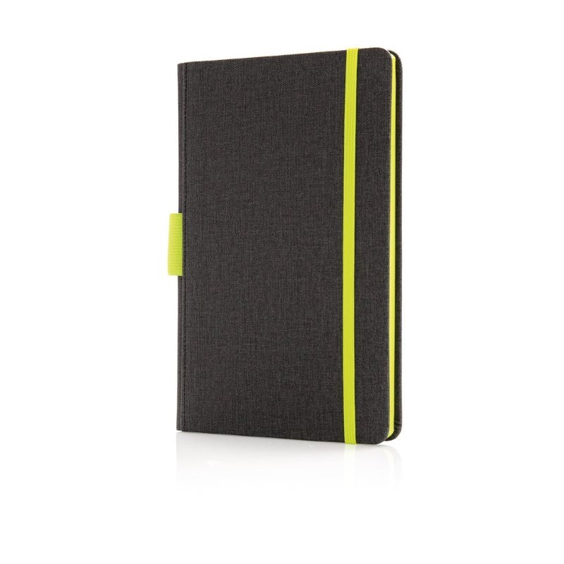Luxe A5 notebook met penhouder, groen