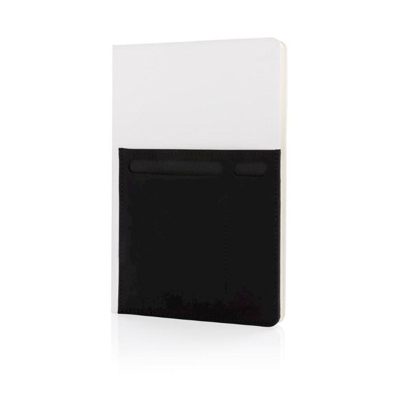 A5 Deluxe notitieboek met slimme opbergvakken, wit