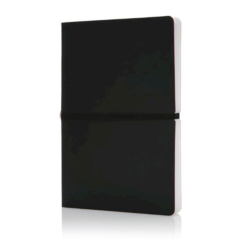 Deluxe softcover A5 notitieboek, zwart