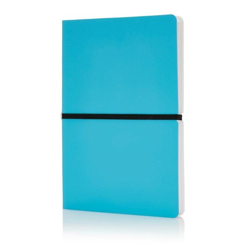 Deluxe softcover A5 notitieboek, blauw