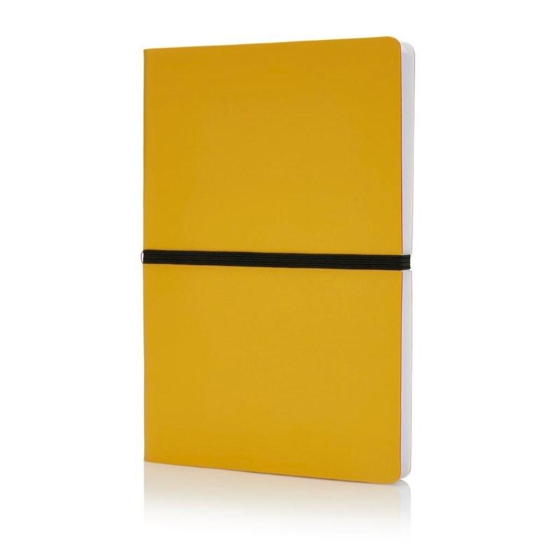 Deluxe softcover A5 notitieboek, geel