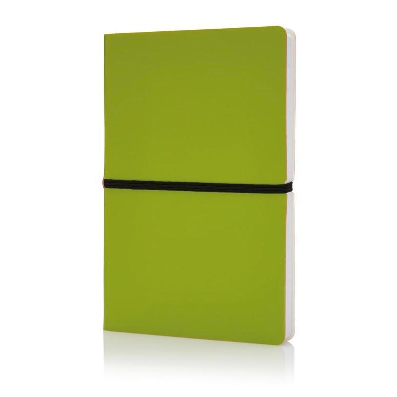 Deluxe softcover A5 notitieboek, groen
