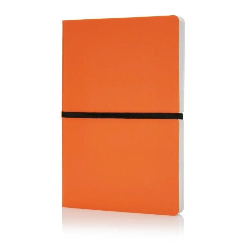 Deluxe softcover A5 notitieboek, oranje
