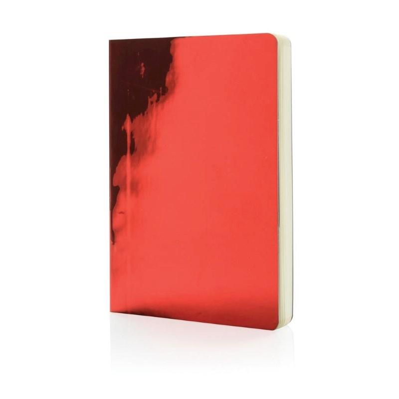 A5 Deluxe metallic notitieboek, rood