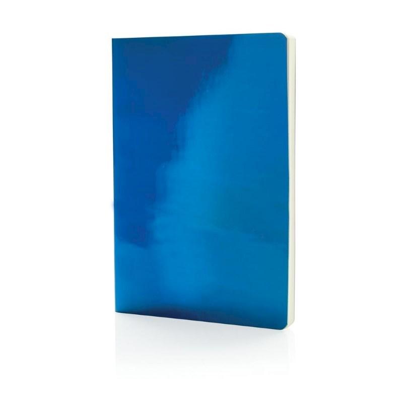 A5 Deluxe metallic notitieboek, blauw