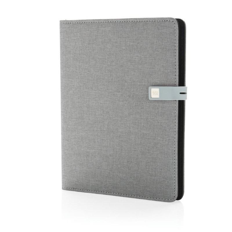 Kyoto A5 notitieboek met 16 GB USB, grijs