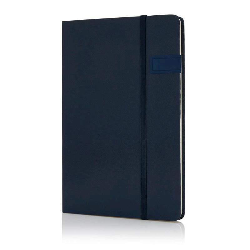 Data notitieboek met 4GB USB, marine blauw