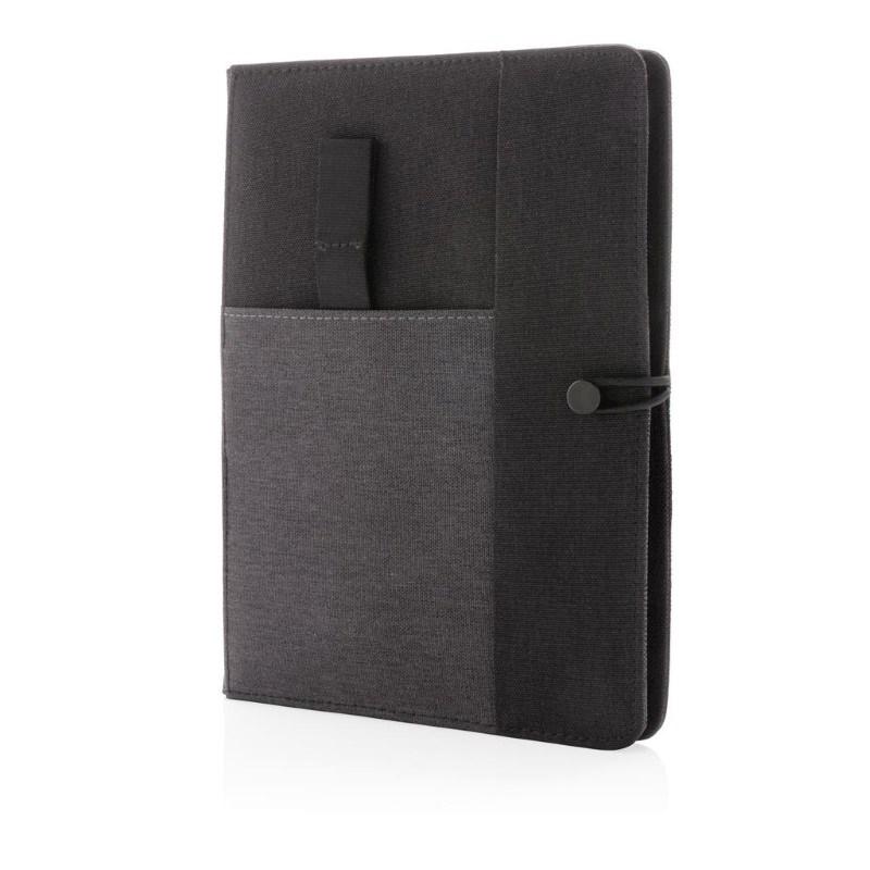 Kyoto omslag voor A5 notitieboek, zwart