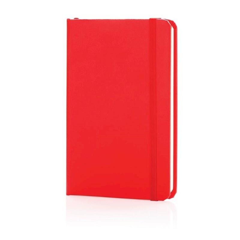 A6 hardcover notitieboek, rood