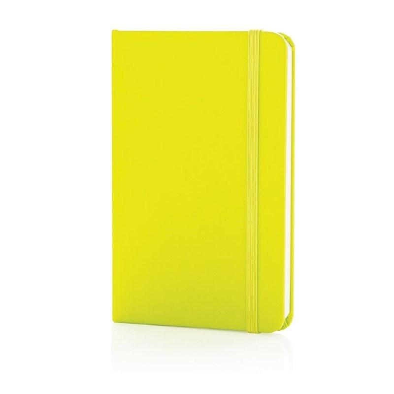 A6 hardcover notitieboek, limegroen